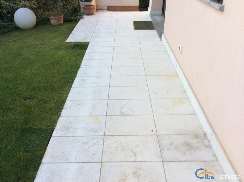 Restoration and protection of stone flooring in Prun stone