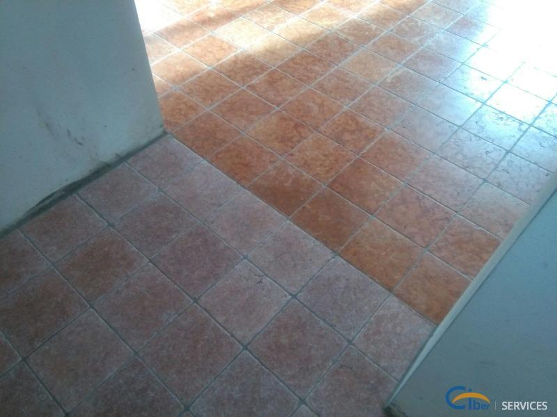 Restoration and protective treatment on terracotta and marble flooring